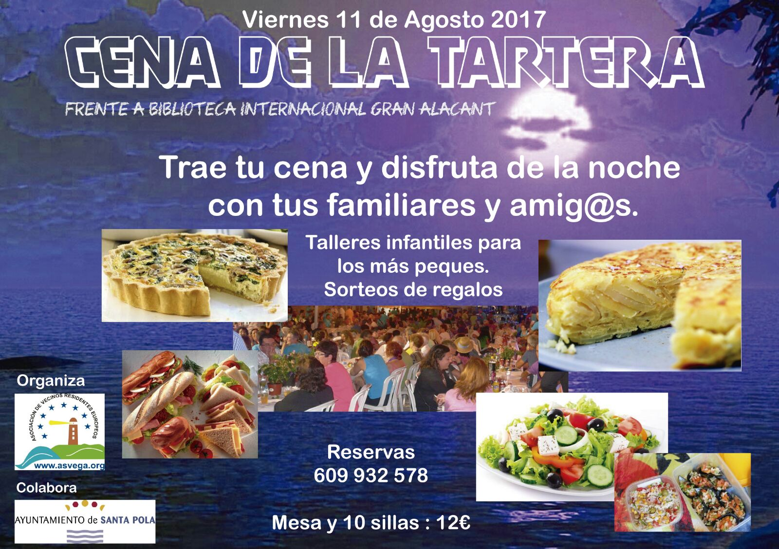 cartel cena tartera