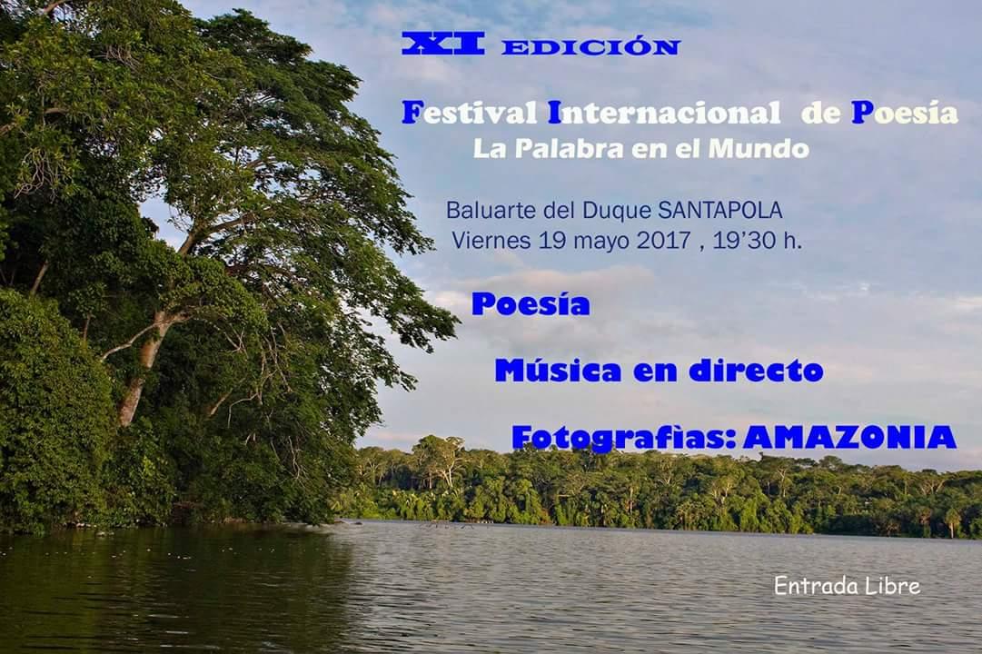 Cartel Festival Internacional de Poesía