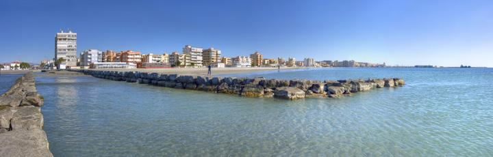 Playas urbanas santa pola tourist info excmo - Mar de cristal santa pola ...