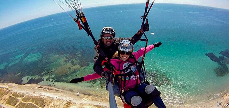 Salto en parapente Cabo de Santa Pola